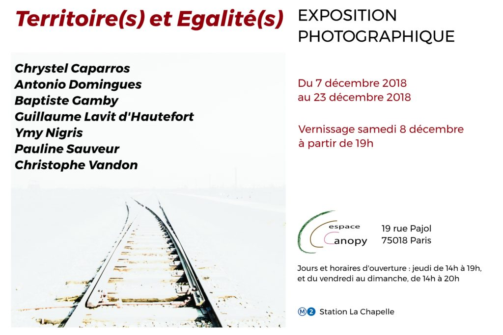 Paris 18 ème exposition photographique Baptiste Gamby Paris 2018 Galerie Canopy 19 rue pajol, 75018 Paris, FRANCE Baptiste gamby 19 rue pajol, 75018 Paris, FRANCE christophe vandon Ymy Nigris - photographe NiepceB 7Antonio Domingues photographe NiepceB 7 pauline sauveur Guillaume Lavit d'Hautefort - photographe NiepceB 7 Nicolas Beaumont photographe - NiepceB 7 Collectif de photographe France