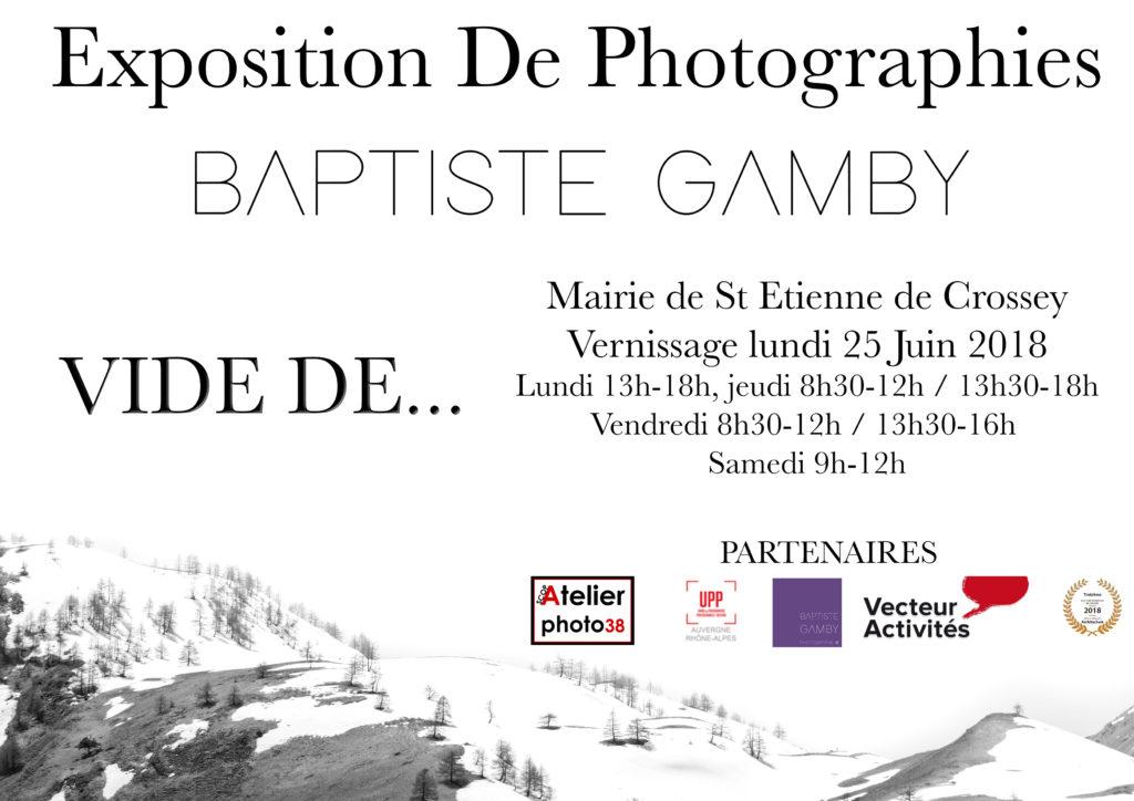Baptiste Gamby Photographe expose à St Etienne de Crossey lors du festival Voiron festival photoReflex Image Création La photo fait son cinéma dans le Voironnais fête sa 30ème édition