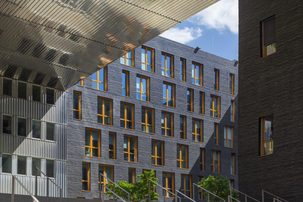 Quartier des confluences, Lyon,Le Monolithe – MVRDV, P. Gautier, M. Gautrand, ECDM, Erik van Egeraat, West 8